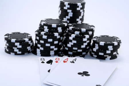eights: Aces and Eights with black chips