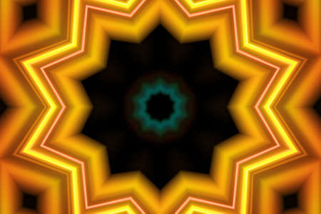 Reflection of light coming off of a DVD put into a kaleidoscope like look photo