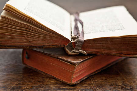 old opened book