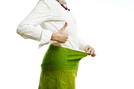 loosing weight - diet is ok Stock Photo