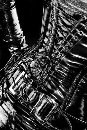 black latex corset - high gloss with reflections