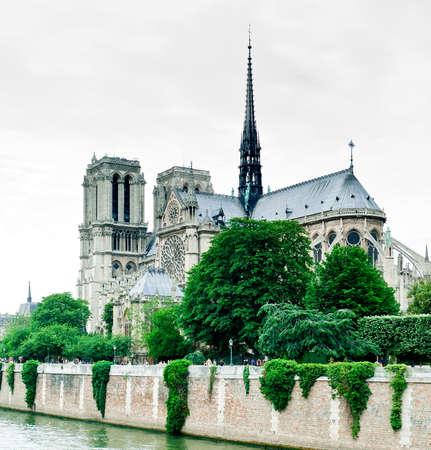 cathedral Notre Dame, Paris, France, a view