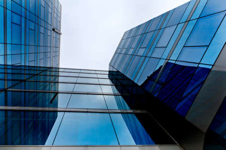 high modern office building - glass and steel