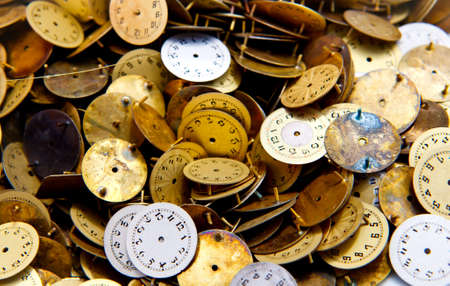 old clockfaces - parts of a watch