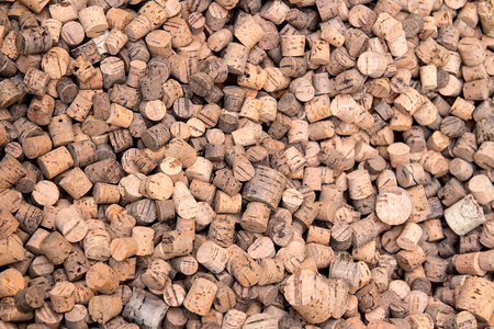cork wood: many corks made from cork wood - background, texture