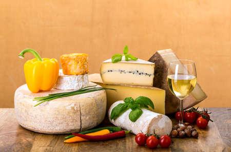 many types of french cheese - rondin de brebis, ossau-iraty, camembert, comte, vieux, tomme de chevre, langres, morbier, margalet