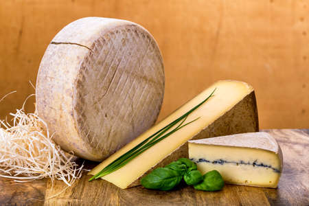 many types of french cheese - ossau-iraty, comte, morbier