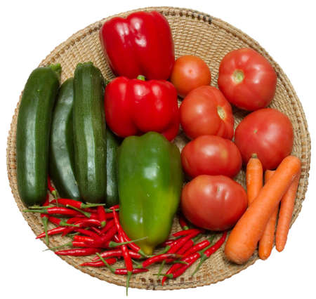 Aplate with some delicious and fresh vegetables Stock Photo - 2739556