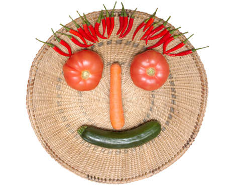 Face made with some vegetables Stock Photo - 2739557