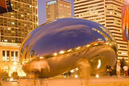 Chicago, Illinois, June 26, 2007 - Chicago bean Stock Photo - 6889453