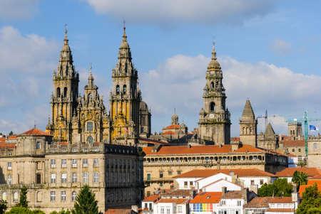 galicia: Cathedral of Santiago de Compostela, Galicia, Spain Stock Photo