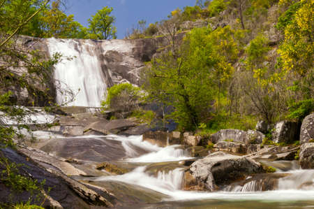 orense: As Mestas waterfall in Melon, Ourense, Spain
