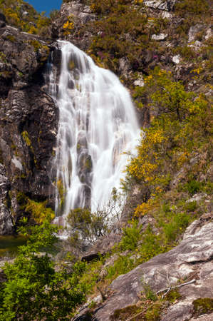 orense: Touron waterfall in Melon, Ourense, Spain