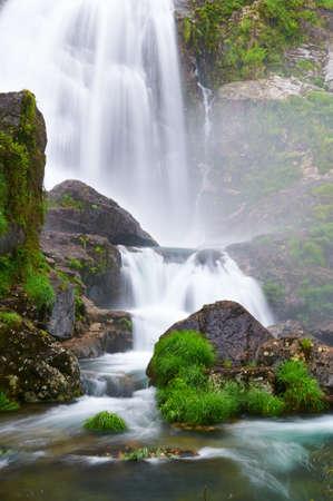 Belelle river waterfall  Galicia  Spain photo