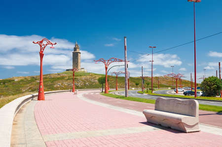 The Tower of Hercules is one of the oldest lighthouses n the world photo
