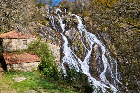 cataract falls: Brañas waterfall. Toques. A Coruña. Galicia