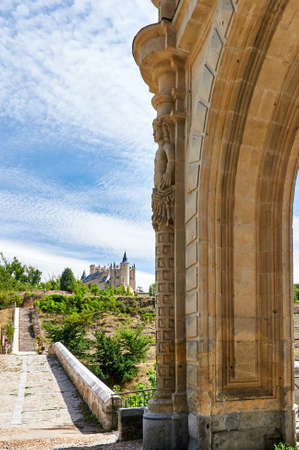 The Gate to Arevalo and The Alcazar of Segovia (Spain)