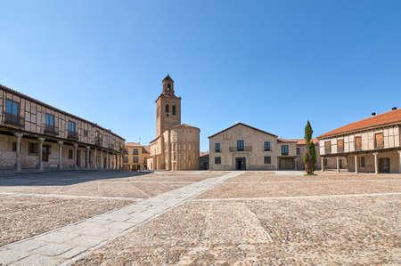 Plaza de la Villa (Square of the Village), Arevalo, Avila, Spain. Typical medieval architecture