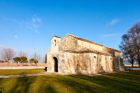 San Juan de Baños. Visigothic church in Venta de Baños, Palencia, Spain Stock Photo - 95448617