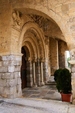 Santa Mariao Church, in Carrion de los Condes, in the road to Santiago. Spain Banque d'images - 98877803