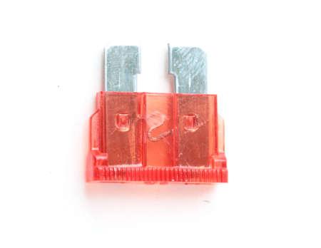 Car fuse. Pile od colorful electrical automotive fuses or circuit brea