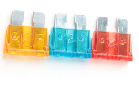 car fuse: Car fuse. Pile od colorful electrical automotive fuses or circuit brea