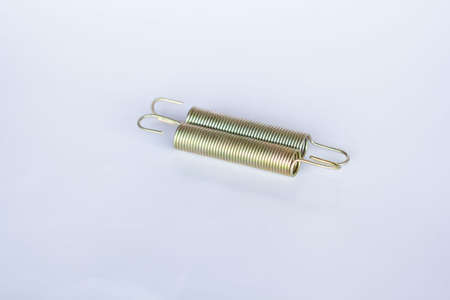 annealed: Two spring coils isolated on white background.