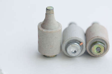 overload: Old type fuses used to protect installation electrical overload,diazed (bottle) fuse