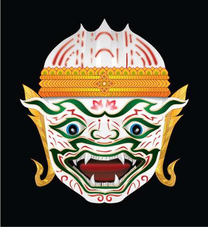 successfully: Hanuman head illustration