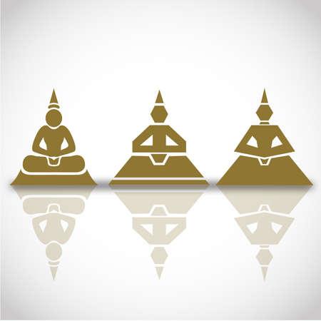 truncated: Buddha Modern illustration Illustration