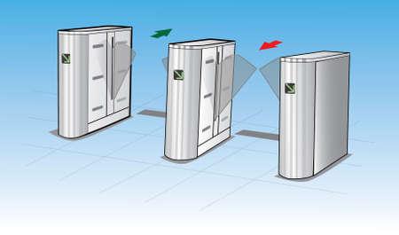 Automatic door machine vector