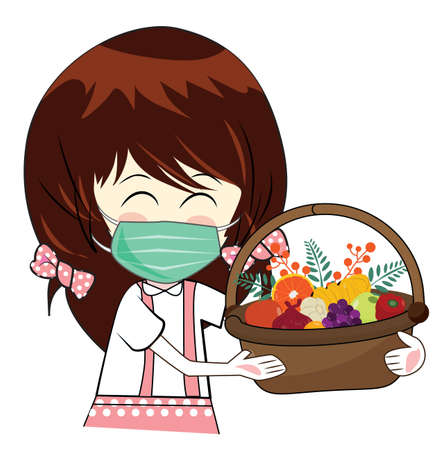 Illustration, vector, healthcare, protection against dust and germs, for good health, white background