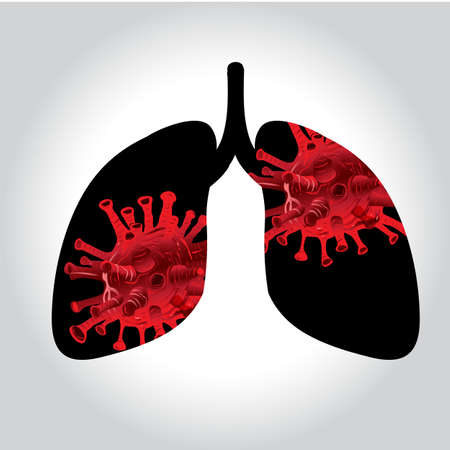 vector, Inscription COVID-19. World Health Organization WHO introduced new official name for Coronavirus disease named COVID-19 The virus enters the lungs.