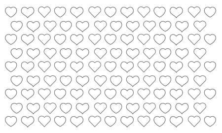 Gray heart shaped line background image Ilustração