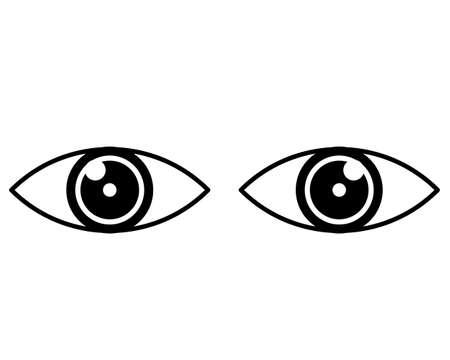 two eye icon,Vactor,Eps10