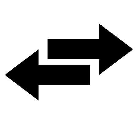 inverse: two arrow sign in inverse side ,two arrow icon Stock Photo