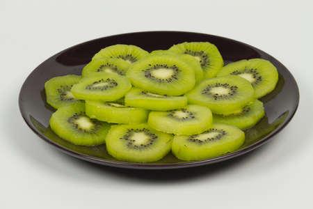 Many slices of kiwi fruit Stock Photo
