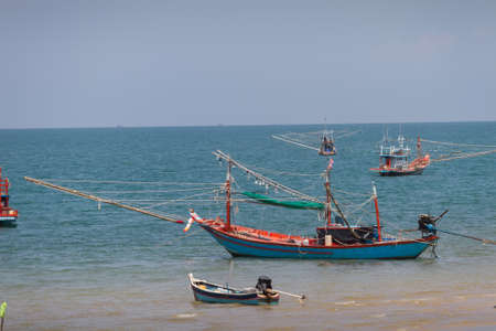 Thai fishing boat and sea in south of Thailand
