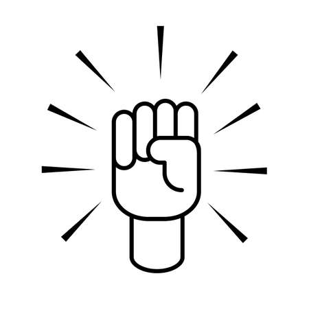 hand up icon  flat design . vector icon 10 eps