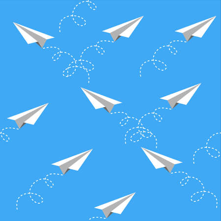 Vector Plane pattern seamless background,flat icon design,esp10 Illustration