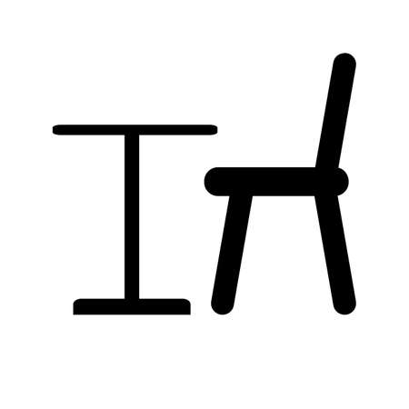 table chair vector icon flat design on white design