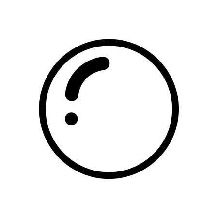 Conception plate de vecteur d'icône de boule sur le fond blanc Vecteurs