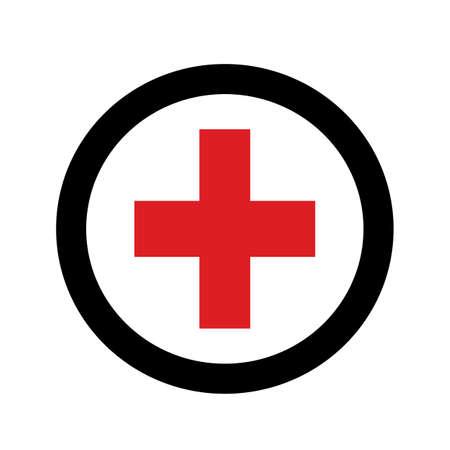 plus flaches Design des Symbolvektors auf weißem Hintergrund