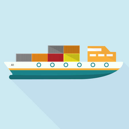 ship vector icons  with long shadow,flat icon design,esp10 Illustration
