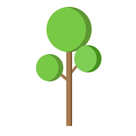 tree icon flat design