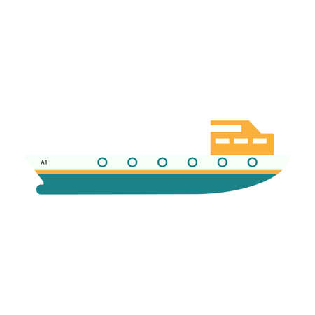 Cargo ship vector icon,Transportation boat vector icon  flat design on white background,esp10