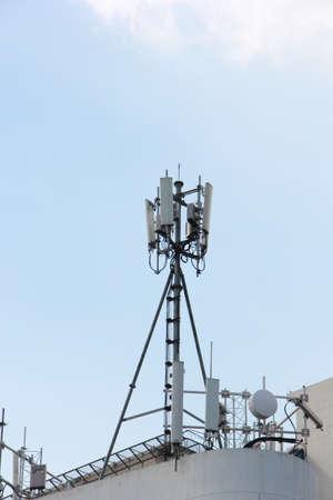 transceiver: Mobile phone Transceiver on a Roof , Base Transceiver Station