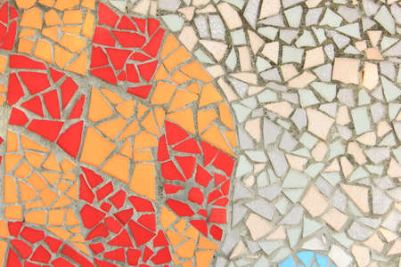 Colorful mosaic tiles wall Stock Photo