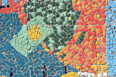 Colorful mosaic tiles wall Imagens