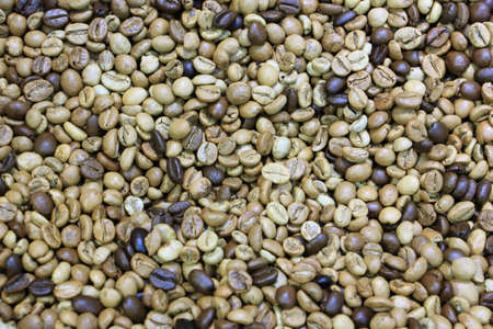 Mixed coffee roasted beans Imagens